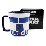 Caneca Buck 400ml R2d2 Star Wars Disney Oficial
