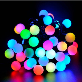 Luces Guirnalda Tira 20 Bolitas Led Multicolor 3 Mts A Pilas