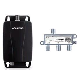 Amplificador Linha Aquario Hd Digital Al-1026 26db +div 3 Tv