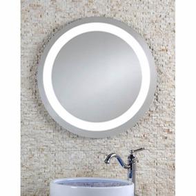 Espejo Redondo Con Luz Led Y Bocinas Bluetooth Nuevo