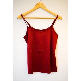 Blusinha Feminina Cetim Vermelha De Alça Tamanho P