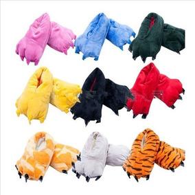 Pantuflas Con Garras Kigurumi Talla 26 A 41 Rosa Azul Amaril