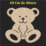 Silhueta De Parede Urso Painel Quarto R13 Apliques Baby
