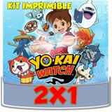 Kit Imprimible Yo Kai Watch Cotillón Cumpleaños Cajitas 2x1