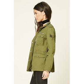 Campera Militar Jacket Forever 21 - Tipo Kosiuko No Cuero