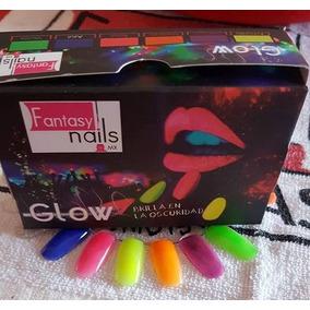 Colección Acrílico Glow Brilla En Obscuridad Fantasy Nails
