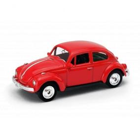 Vokswagen: Beetle / Fusca (hard-top) Vermelho - 1:60 - Welly