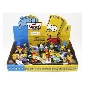 Bonecos Os Simpsons Miniaturas Originais Multikids Kit C/ 8