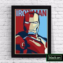 Poster Quadro Marvel Homem Ferro Iron Man Filme A4 30x20cm