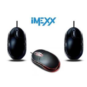 Mouse Optico 3d Usb Led Marca Imexx Negro