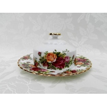 Mantequera En Porcelana Inglesa Royal Albert * Exquisita *