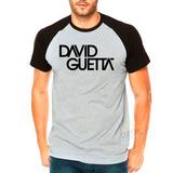 Camisa Raglan David Guetta Dj Camiseta