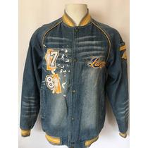 Unk Nba Lakers Chaqueta De Mezclilla Jeans Original S (s-m)