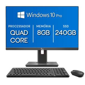 All In One 3green 21.5 Intel Quad Core 8gb Ssd 240gb Win 10