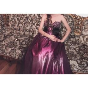 Precioso Vestido De Fiesta Tonos Morados T-s