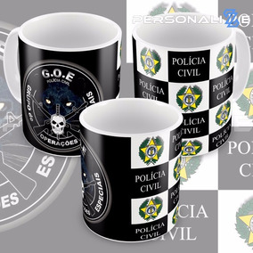 Caneca Polícia Civil Rio De Janeiro Pc-rj E Goe Operações 2