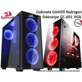 Gabinete Gamer Redragon Sideswipe Gc-601 Rgb Vidriotemp 4fan