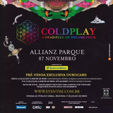 Ingresso Show Coldplay 07/11 Cadeira Superior Allianz - Sp