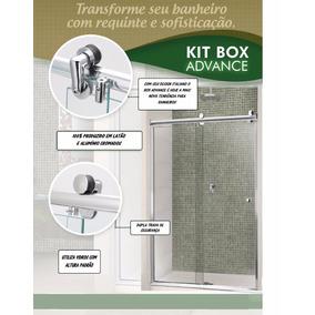 Kit Box Banheiro Advance F1 2,00m Cromado - Sem Vidro