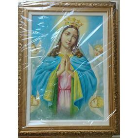 Quadro Nossa Senhora Da Guia 50x70 Com Moldura