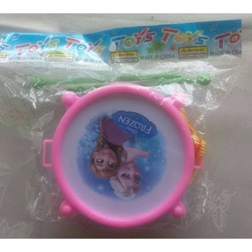 Tambor Mini Redoblante Con Baquetas De Frozen