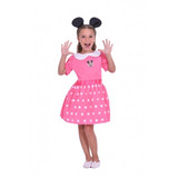 Disfraz De Minnie Mouse C/accesorio Luminoso Orig New Toys