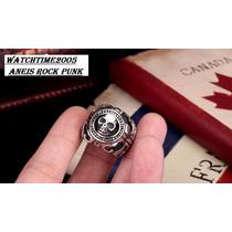 Anel Masculino Cruz Rock Religioso Aço Titânio