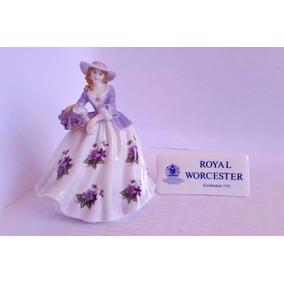Boneca Importada Porcelana Sweet Violet 1995 Royal Worcester