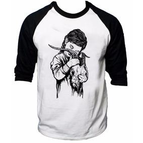 Camisa Raglan 3/4 Bring Me The Horizon Rock Camiseta Skull 2