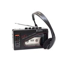 Walkman Con Bocinas Broksonic, Cassette, Bocinas, Vintage