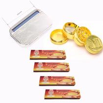 Roladora Xxl + Grinder Dorado+ 4 X Papel Arroz