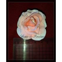 Flor De Açucar P/ Decorar Bolos 5 Rosas De 5cm Pasta Americ