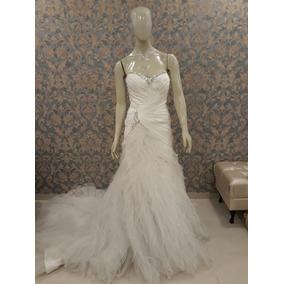 Vestido De Noiva Sereado Cetim Tule Babado Sophia Toli Tn-59