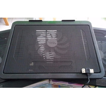 Base Fan Cooler Para Laptop Con Puerto Usb Hasta 34 Cm