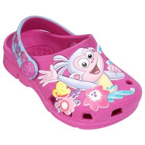 Babuche Sandalia Infantil Plugt Dora Aventureira Menina Pink