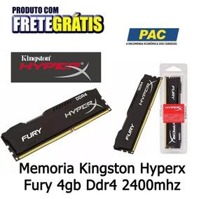 Memoria Kingston Hyperx Fury 4gb Ddr4 2400mhz Frete Grátis