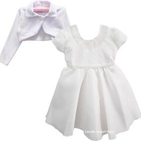 Vestido Infantil Off White Daminha Casamento Batizado
