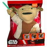 Star Wars Yoda Lightsaber Battle Con Sonido, Música Y Voz.