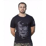 Camiseta Caveira Armas Tática Mundo Do Militar