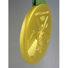 Medalha Rio 2016 Ouro 60mm Limpa Estoque
