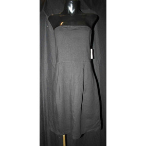 Vestido Negro Marca Old Navy Strapless, Talla L