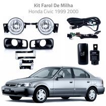 Kit Farol De Milha Honda Civic 1999 2000 Bt Modelo Original