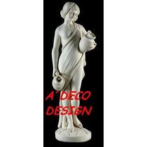 Escultura Estatua Eve Acuagiola De 1.00 Cemento Marmolina