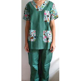 Pijama Cirúrgico Veterinária Estampado Calça E Blusa