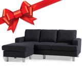 Sillon Sofa Con Esquinero Gris O Negro 3 Cuerpos Regalo !