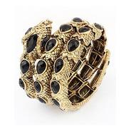 Bracelete Serpente Dourada Pulseira Cobra Fosca 8cm
