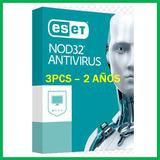 Eset Nod32 Antivirus V10 2018 Licencia Original 3 Pcs 2 Años