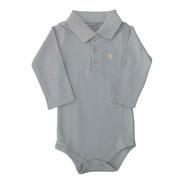 Body Polo - Azul - Baby Fashion