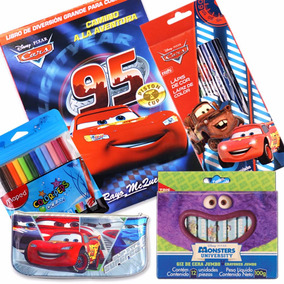 Juego De Útiles Escolares Disney De Cars Dibujo