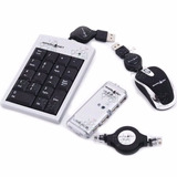 Kit Accesorios Notebook Mini Mouse Hub Teclado Num Cable Red